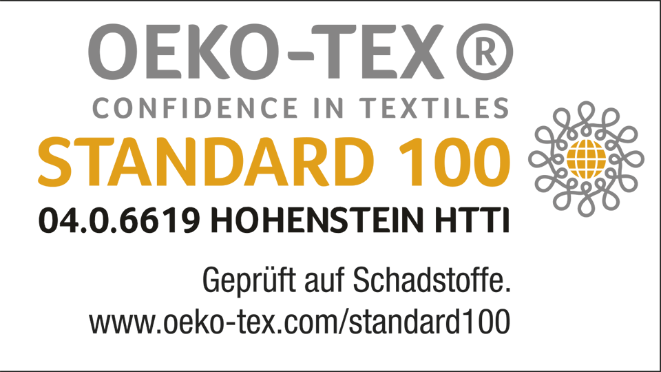 STANDARD 100 by Oeko-Tex 04-0-6619 de